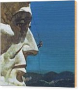 Abraham Lincoln's Nose On The Mount Rushmore National Memorial  Wood Print