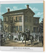 Abraham Lincoln's Return Home Wood Print
