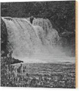 Abrams Falls Cades Cove Tn Black And White Wood Print