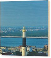 Absecon Lighthouse Atlantic City Wood Print by Bill Cannon