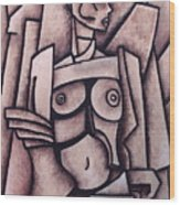 Absract Girl Wood Print