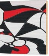 Abstrac7-30-09-b Wood Print