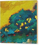Abstract 01 Wood Print