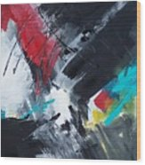 Abstract 026 Wood Print