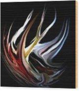 Abstract 07-26-09-c Wood Print