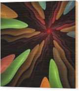 Abstract 080610 Wood Print