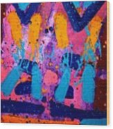 Abstract 10316 - Cropped Wood Print