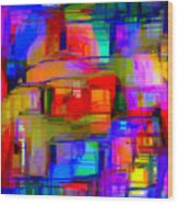 Abstract 1293 Wood Print