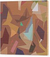 Abstract 16 Wood Print