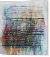 2e Abstract Expressionism Digital Painting Wood Print