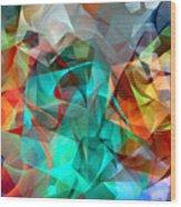 Abstract 3540 Wood Print