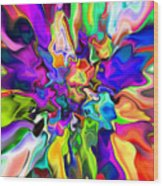 Abstract 373 Wood Print