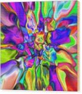 Abstract 376 Wood Print