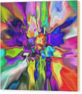 Abstract 379 Wood Print