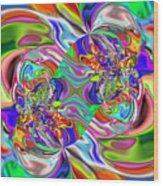 Abstract 389 Wood Print