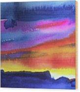 Joan's Sunset Wood Print