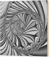 Abstract 527 Bw Wood Print