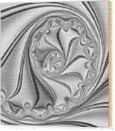 Abstract 534 Bw Wood Print