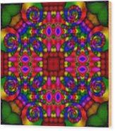Abstract 652 Wood Print