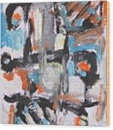 Abstract 6834 Wood Print