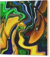 Abstract 7-10-09 Wood Print