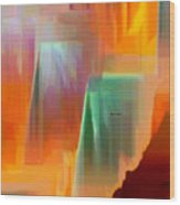 Abstract 9364 Wood Print