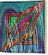 Abstract 9554 Wood Print