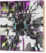 Abstract A Flower  Wood Print