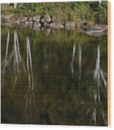 Abstract Along The River Wood Print