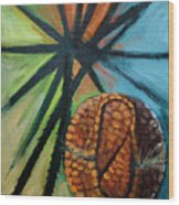 Abstract And The Armadillo Wood Print