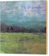 Abstract Aqua Sky Landscape Wood Print