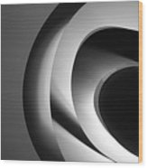 Abstract Architectural Ceiling, Curves And Round Lines Wood Print