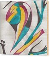 Abstract Art 105 Wood Print
