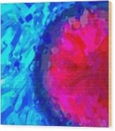 Abstract Art Combination - The Pink Martian Crater, Ca 2017, Byy Adam Asar Wood Print