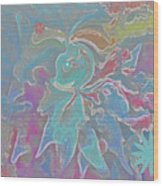 Abstract Art Fun Flower By Sherriofpalmspring Wood Print