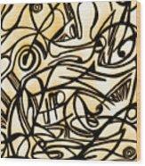 Abstract Art Gold 2 Wood Print