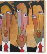 Abstract Art Original Painting - Mad Men Wood Print