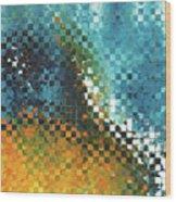 Abstract Art - Pieces 9 - Sharon Cummings Wood Print