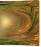 Abstract Art -the Core By Rgiada Wood Print