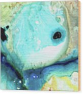 Abstract Art - Holding On - Sharon Cummings Wood Print