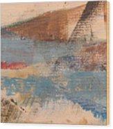 Abstract At Sea 2 Wood Print