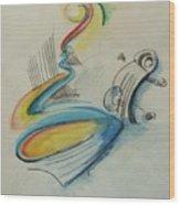 Abstract Bass Wood Print