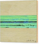 Abstract Beach Landscape  Wood Print