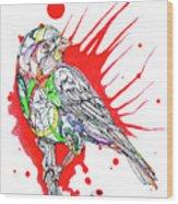Abstract Bird 002 Wood Print