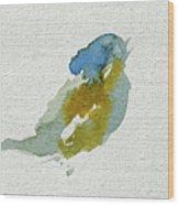 Abstract Bird Singing Wood Print