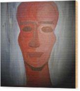 Abstract Black  Man Wood Print