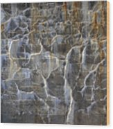 Abstract Bleeding Concrete Wood Print