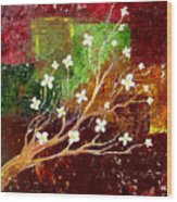 Abstract Blossom Wood Print