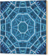 Abstract Blue 18 Wood Print