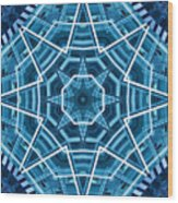Abstract Blue 19 Wood Print